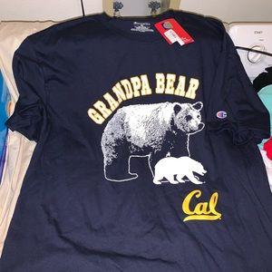 NWT Champion Cal Berkeley Grandpa Bear T-shirt